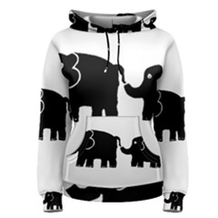 Elephant And Calf Women s Pullover Hoodies