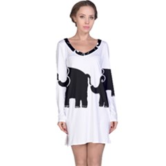 Elephant And Calf Long Sleeve Nightdresses