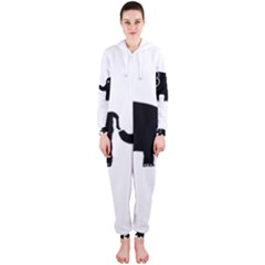 Elephant And Calf Hooded Jumpsuit (Ladies)