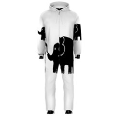 Elephant And Calf Hooded Jumpsuit (Men)