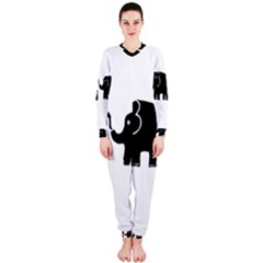 Elephant And Calf OnePiece Jumpsuit (Ladies)