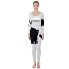 Elephant And Calf Long Sleeve Catsuit