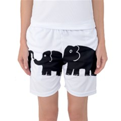 Elephant And Calf Women s Basketball Shorts