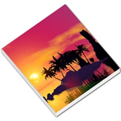 Wonderful Sunset Over The Island Small Memo Pads