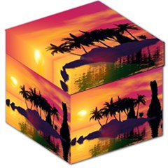 Wonderful Sunset Over The Island Storage Stool 12