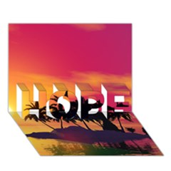 Wonderful Sunset Over The Island HOPE 3D Greeting Card (7x5)
