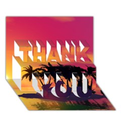 Wonderful Sunset Over The Island Thank You 3d Greeting Card (7x5)