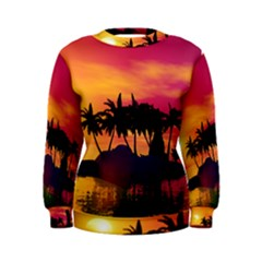 Wonderful Sunset Over The Island Women s Sweatshirts