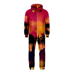 Wonderful Sunset Over The Island Hooded Jumpsuit (Kids)