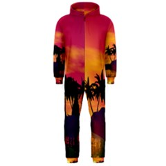 Wonderful Sunset Over The Island Hooded Jumpsuit (Men)