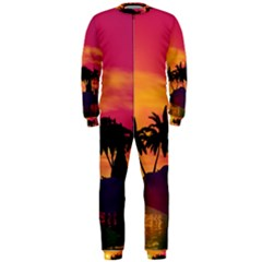 Wonderful Sunset Over The Island Onepiece Jumpsuit (men)