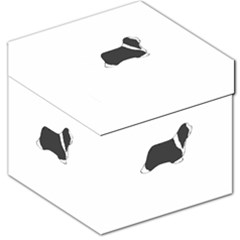 Bearded Collie color silhouette Storage Stool 12
