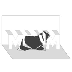 Bearded Collie color silhouette MOM 3D Greeting Card (8x4)