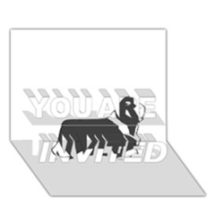 Bearded Collie color silhouette YOU ARE INVITED 3D Greeting Card (7x5)