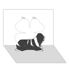 Bearded Collie color silhouette Clover 3D Greeting Card (7x5)