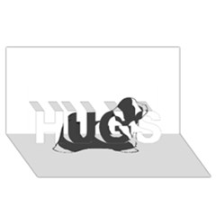 Bearded Collie color silhouette HUGS 3D Greeting Card (8x4)