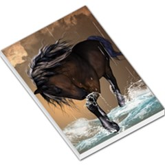 Beautiful Horse With Water Splash Large Memo Pads