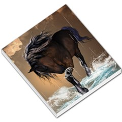 Beautiful Horse With Water Splash Small Memo Pads