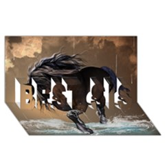 Beautiful Horse With Water Splash BEST SIS 3D Greeting Card (8x4)