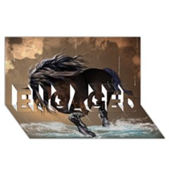 Beautiful Horse With Water Splash ENGAGED 3D Greeting Card (8x4)