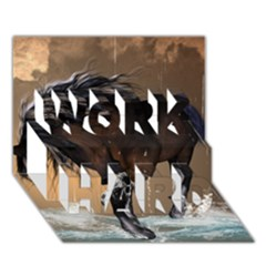 Beautiful Horse With Water Splash Work Hard 3d Greeting Card (7x5)