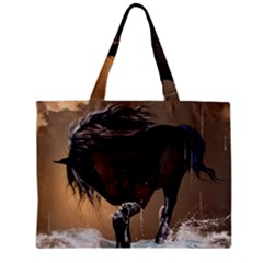 Beautiful Horse With Water Splash Zipper Tiny Tote Bags