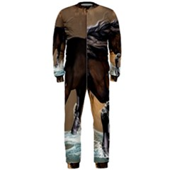 Beautiful Horse With Water Splash OnePiece Jumpsuit (Men)