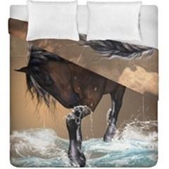 Beautiful Horse With Water Splash Duvet Cover (king Size)