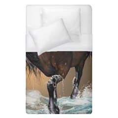 Beautiful Horse With Water Splash Duvet Cover Single Side (single Size)