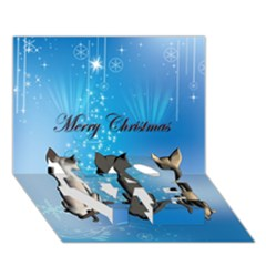 Merry Chrsitmas Love Bottom 3d Greeting Card (7x5)