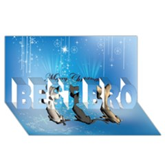Merry Chrsitmas Best Bro 3d Greeting Card (8x4)