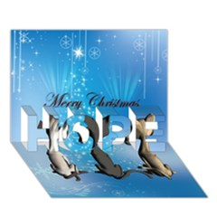 Merry Chrsitmas HOPE 3D Greeting Card (7x5)