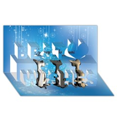 Merry Chrsitmas Best Wish 3d Greeting Card (8x4)