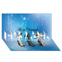 Merry Chrsitmas Engaged 3d Greeting Card (8x4)