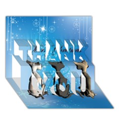 Merry Chrsitmas THANK YOU 3D Greeting Card (7x5)