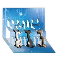 Merry Chrsitmas You Did It 3D Greeting Card (7x5)