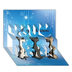 Merry Chrsitmas You Rock 3D Greeting Card (7x5)