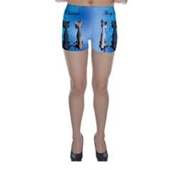 Merry Chrsitmas Skinny Shorts