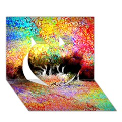 Colorful Tree Landscape Heart 3D Greeting Card (7x5)
