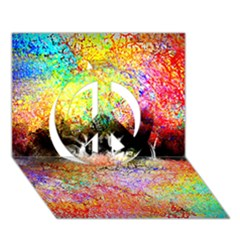 Colorful Tree Landscape Peace Sign 3D Greeting Card (7x5)