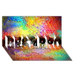 Colorful Tree Landscape BEST BRO 3D Greeting Card (8x4)