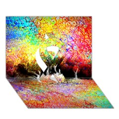 Colorful Tree Landscape Ribbon 3D Greeting Card (7x5)