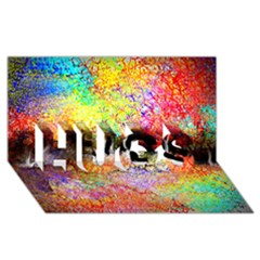 Colorful Tree Landscape HUGS 3D Greeting Card (8x4)
