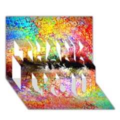 Colorful Tree Landscape Thank You 3d Greeting Card (7x5)
