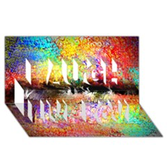 Colorful Tree Landscape Laugh Live Love 3D Greeting Card (8x4)