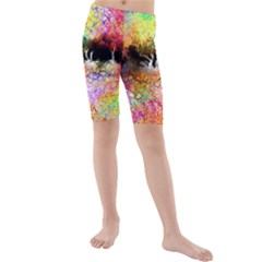 Colorful Tree Landscape Kid s swimwear