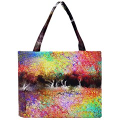 Colorful Tree Landscape Tiny Tote Bags