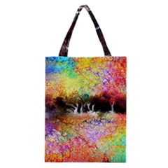 Colorful Tree Landscape Classic Tote Bags