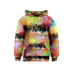 Colorful Tree Landscape Kid s Pullover Hoodies