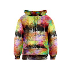 Colorful Tree Landscape Kids Zipper Hoodies
